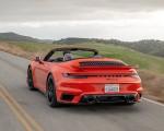 2021 Porsche 911 Turbo S Cabrio (Color: Lava Orange) Rear Three-Quarter Wallpapers 150x120 (5)