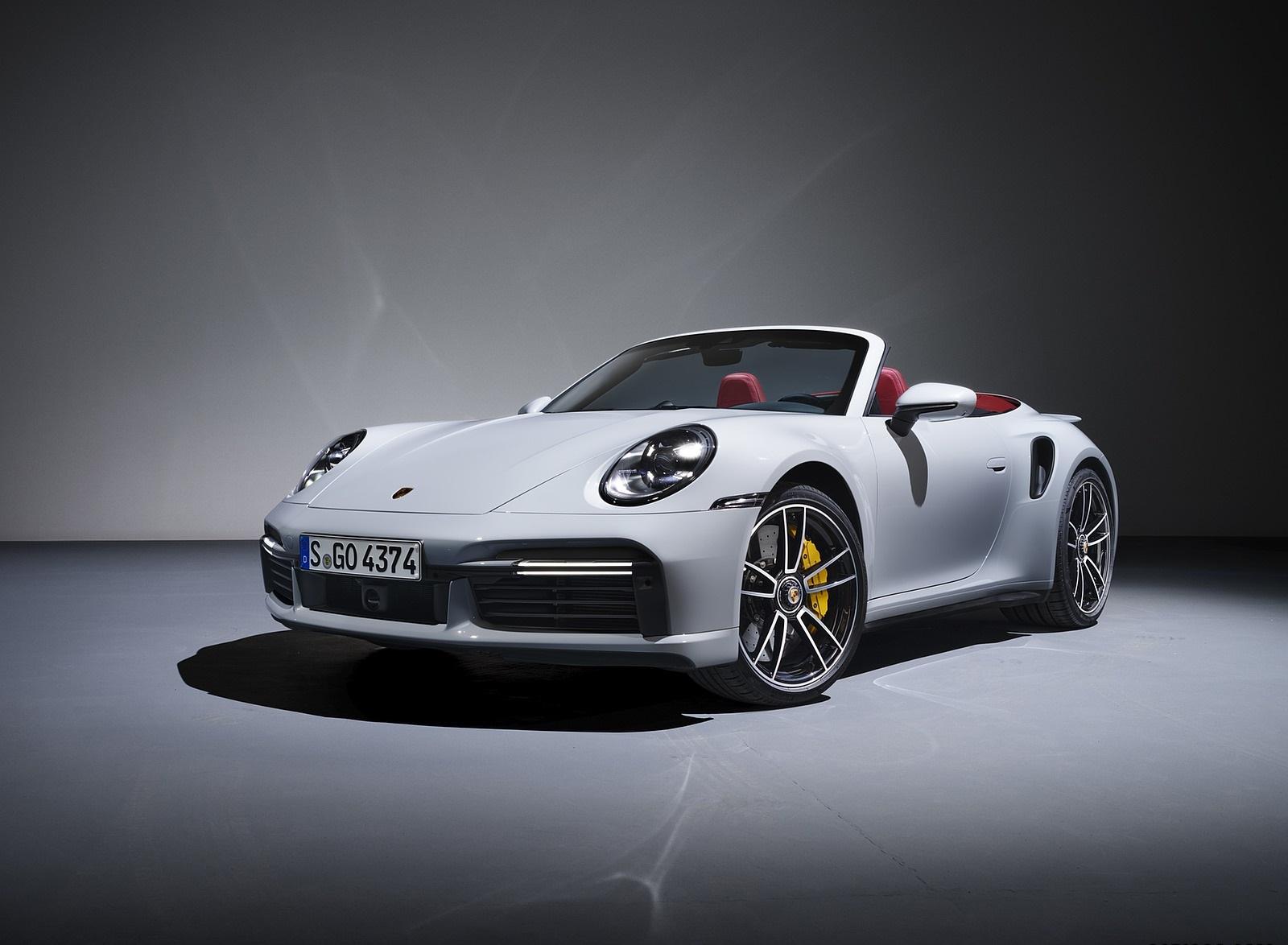 2021 Porsche 911 Turbo S Cabriolet Front Three-Quarter Wallpapers (1)