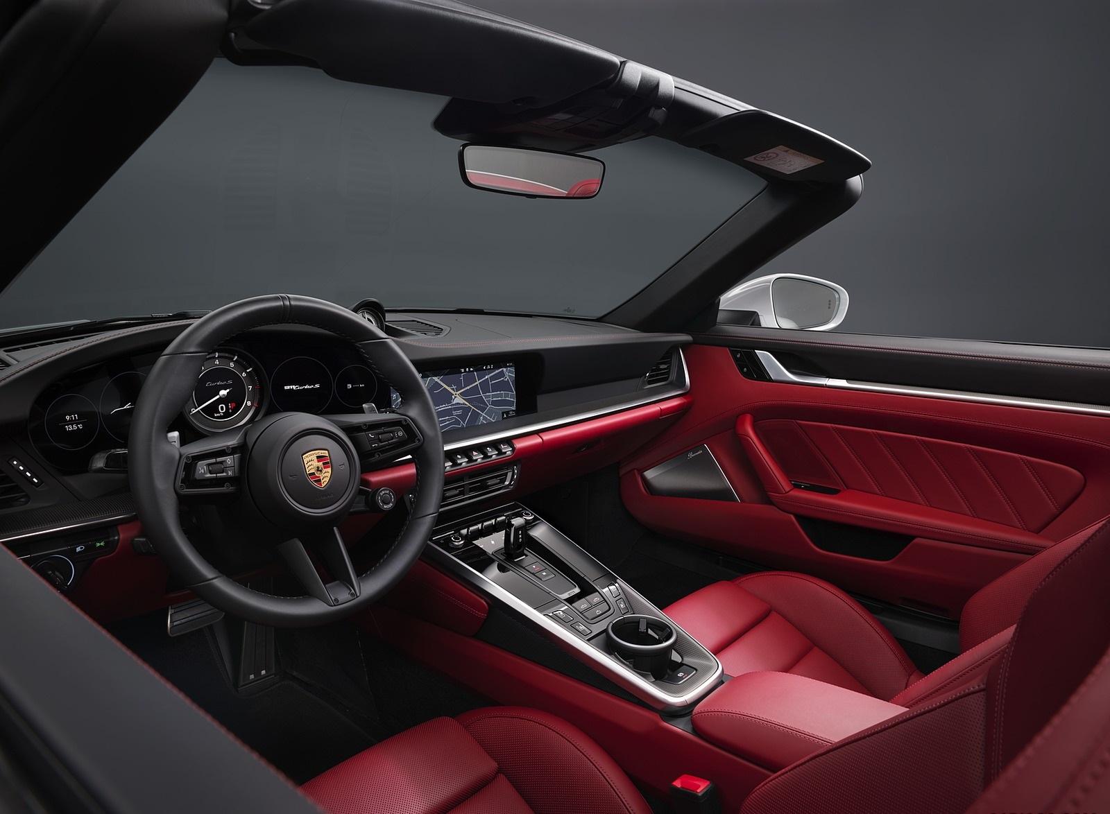 2021 Porsche 911 Turbo S Cabriolet Interior Wallpapers (8)