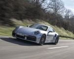 2021 Porsche 911 Turbo S Coupe (Color: GT Silver Metallic) Front Three-Quarter Wallpapers 150x120 (40)