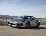 2021 Porsche 911 Turbo S Coupe (Color: GT Silver Metallic) Front Three-Quarter Wallpapers 150x120 (41)