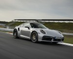 2021 Porsche 911 Turbo S Coupe (Color: GT Silver Metallic) Front Three-Quarter Wallpapers 150x120 (30)