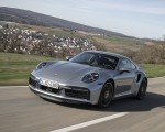 2021 Porsche 911 Turbo S Coupe (Color: GT Silver Metallic) Front Three-Quarter Wallpapers 150x120 (42)