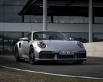 2021 Porsche 911 Turbo S Coupe (Color: GT Silver Metallic) Front Three-Quarter Wallpapers 150x120 (47)