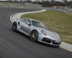 2021 Porsche 911 Turbo S Coupe (Color: GT Silver Metallic) Front Three-Quarter Wallpapers 150x120 (43)