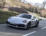 2021 Porsche 911 Turbo S Coupe (Color: GT Silver Metallic) Front Three-Quarter Wallpapers 150x120 (32)