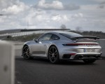 2021 Porsche 911 Turbo S Coupe (Color: GT Silver Metallic) Rear Three-Quarter Wallpapers 150x120 (48)
