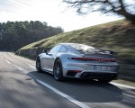 2021 Porsche 911 Turbo S Coupe (Color: GT Silver Metallic) Rear Three-Quarter Wallpapers 150x120 (45)