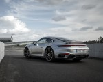 2021 Porsche 911 Turbo S Coupe (Color: GT Silver Metallic) Rear Three-Quarter Wallpapers 150x120 (49)