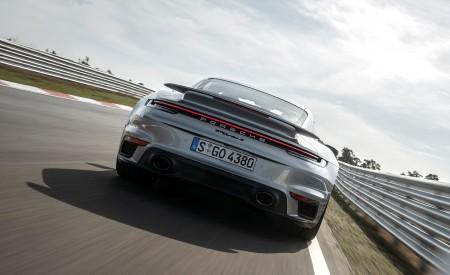 2021 Porsche 911 Turbo S Coupe (Color: GT Silver Metallic) Rear Wallpapers 450x275 (98)