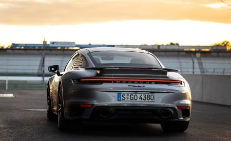 2021 Porsche 911 Turbo S Coupe (Color: GT Silver Metallic) Rear Wallpapers 450x275 (127)