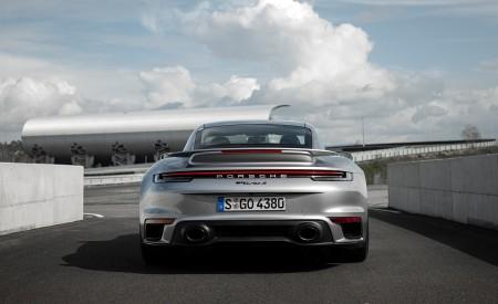2021 Porsche 911 Turbo S Coupe (Color: GT Silver Metallic) Rear Wallpapers 450x275 (110)