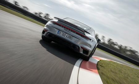 2021 Porsche 911 Turbo S Coupe (Color: GT Silver Metallic) Rear Wallpapers 450x275 (99)