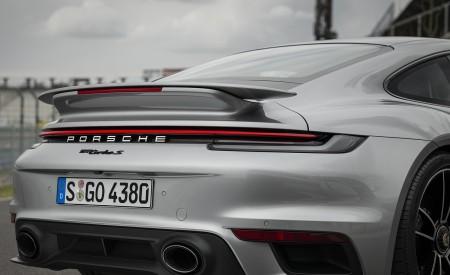 2021 Porsche 911 Turbo S Coupe (Color: GT Silver Metallic) Spoiler Wallpapers 450x275 (133)