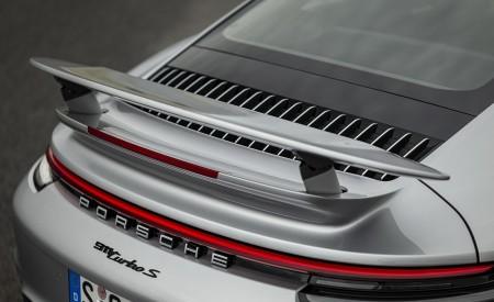 2021 Porsche 911 Turbo S Coupe (Color: GT Silver Metallic) Spoiler Wallpapers 450x275 (132)