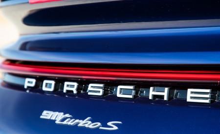 2021 Porsche 911 Turbo S Coupe (Color: Gentian Blue Metallic) Badge Wallpapers 450x275 (197)