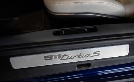 2021 Porsche 911 Turbo S Coupe (Color: Gentian Blue Metallic) Door Sill Wallpapers 450x275 (202)