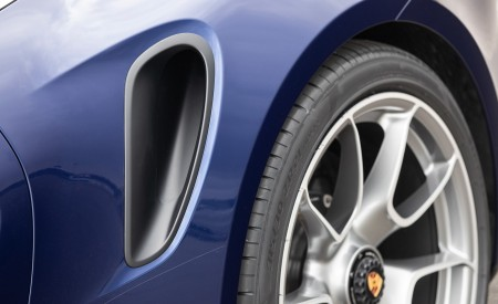 2021 Porsche 911 Turbo S Coupe (Color: Gentian Blue Metallic) Side Vent Wallpapers 450x275 (191)