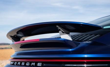2021 Porsche 911 Turbo S Coupe (Color: Gentian Blue Metallic) Spoiler Wallpapers 450x275 (190)