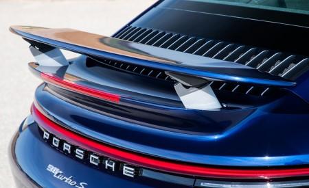 2021 Porsche 911 Turbo S Coupe (Color: Gentian Blue Metallic) Spoiler Wallpapers 450x275 (188)
