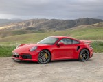2021 Porsche 911 Turbo S Coupe (Color: Guards Red) Front Three-Quarter Wallpapers 150x120 (13)