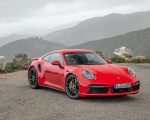 2021 Porsche 911 Turbo S Coupe (Color: Guards Red) Front Three-Quarter Wallpapers 150x120 (11)