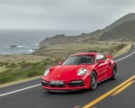 2021 Porsche 911 Turbo S Coupe (Color: Guards Red) Front Three-Quarter Wallpapers 150x120 (2)