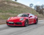 2021 Porsche 911 Turbo S Coupe (Color: Guards Red) Front Three-Quarter Wallpapers 150x120 (3)