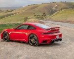 2021 Porsche 911 Turbo S Coupe (Color: Guards Red) Rear Three-Quarter Wallpapers 150x120 (15)