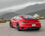 2021 Porsche 911 Turbo S Coupe (Color: Guards Red) Rear Three-Quarter Wallpapers 150x120 (14)