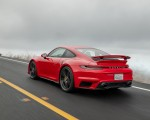 2021 Porsche 911 Turbo S Coupe (Color: Guards Red) Rear Three-Quarter Wallpapers 150x120 (9)