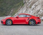 2021 Porsche 911 Turbo S Coupe (Color: Guards Red) Side Wallpapers 150x120 (17)