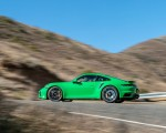 2021 Porsche 911 Turbo S Coupe (Color: Python Green) Side Wallpapers 150x120 (7)