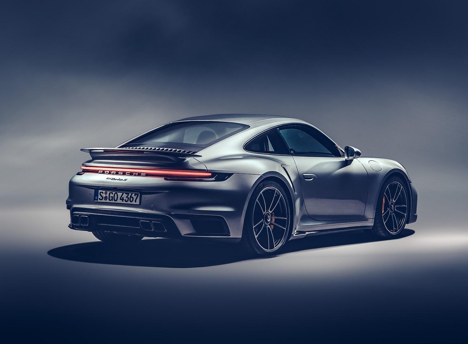 2021 Porsche 911 Turbo S Coupe Rear Three-Quarter Wallpapers (7)