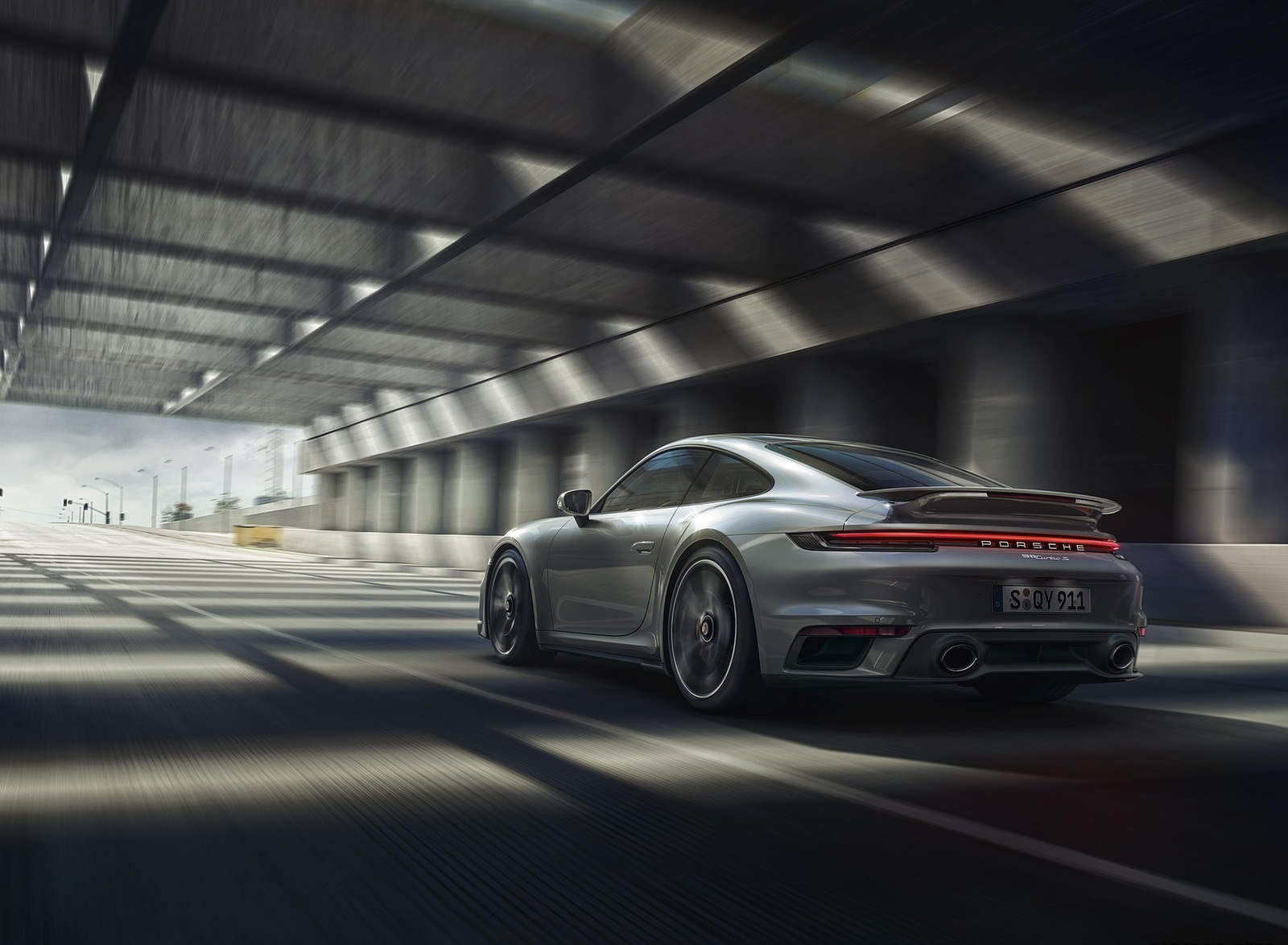 2021 Porsche 911 Turbo S Coupe Rear Three-Quarter Wallpapers (2)