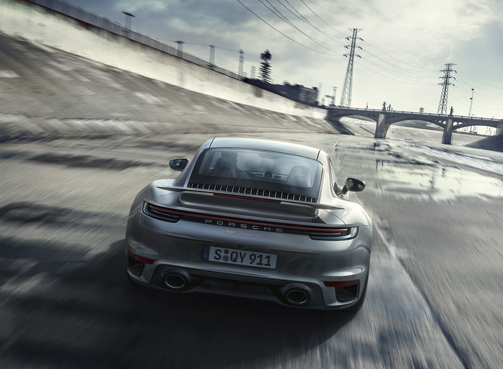 2021 Porsche 911 Turbo S Coupe Rear Wallpapers (3)