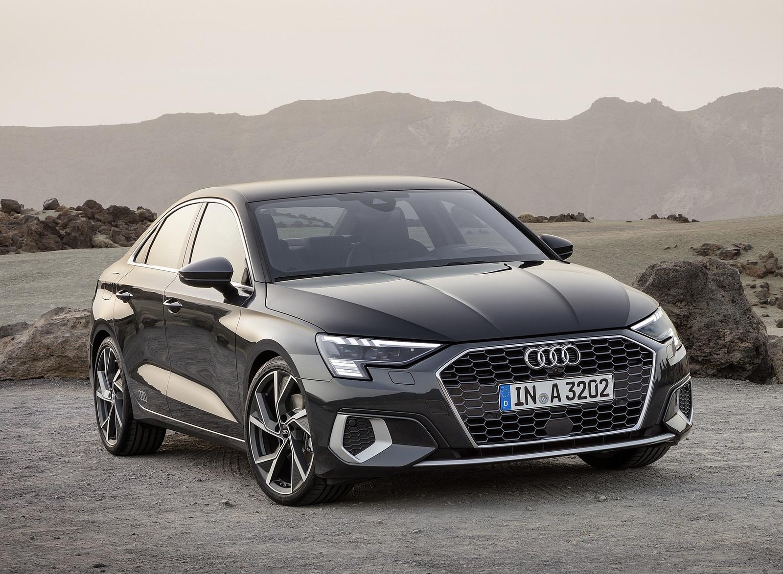 2021 Audi A3 Sedan (Color: Manhattan Gray) Front Three-Quarter Wallpapers (5)