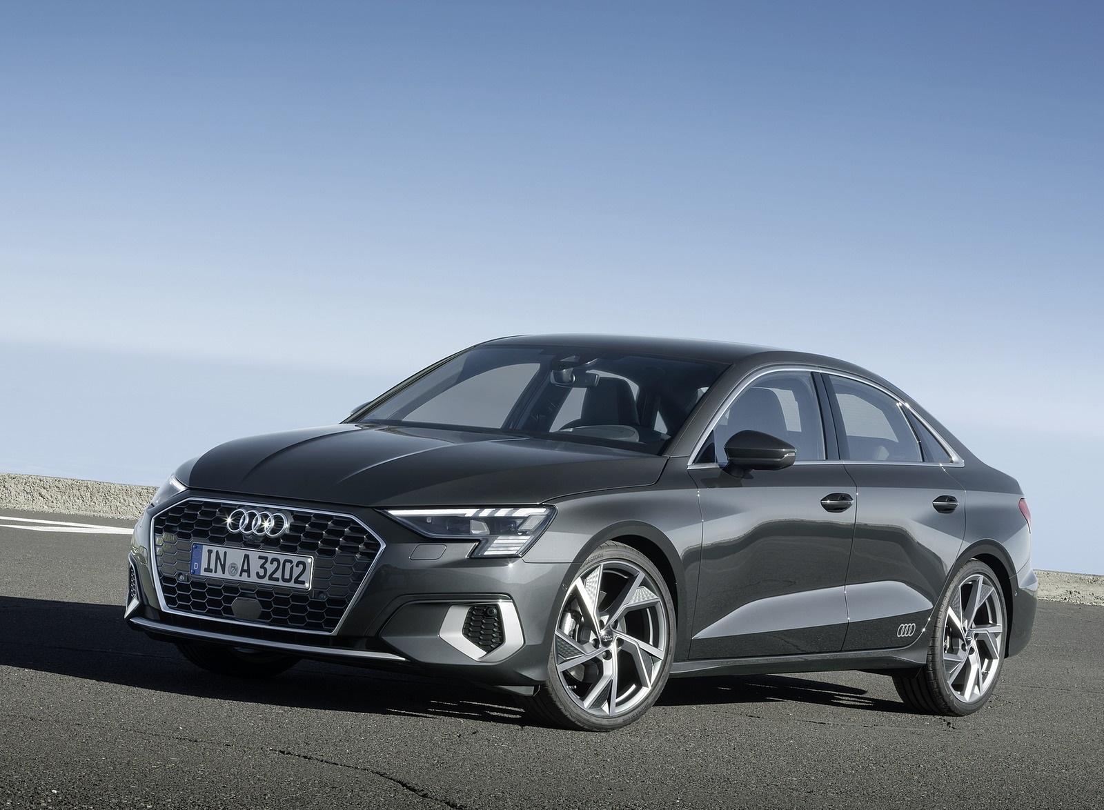 2021 Audi A3 Sedan (Color: Manhattan Gray) Front Three-Quarter Wallpapers (8)