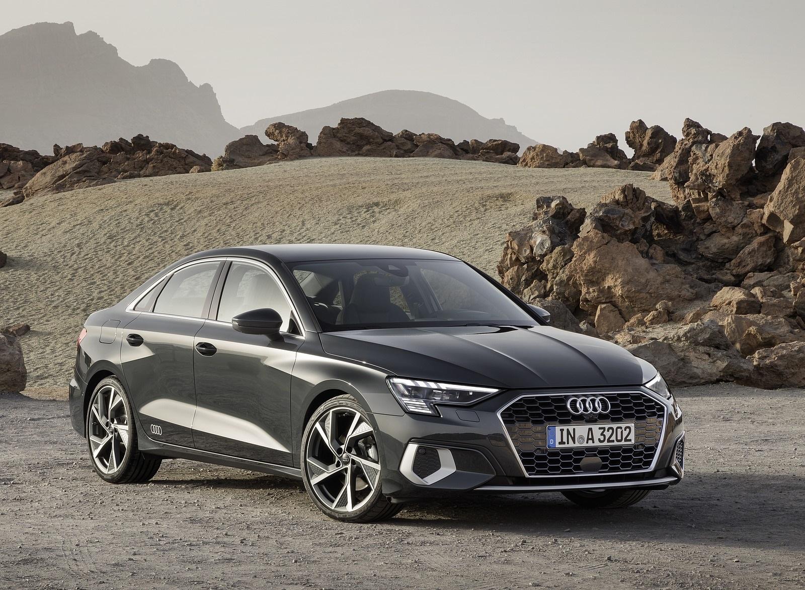 2021 Audi A3 Sedan (Color: Manhattan Gray) Front Three-Quarter Wallpapers (6)