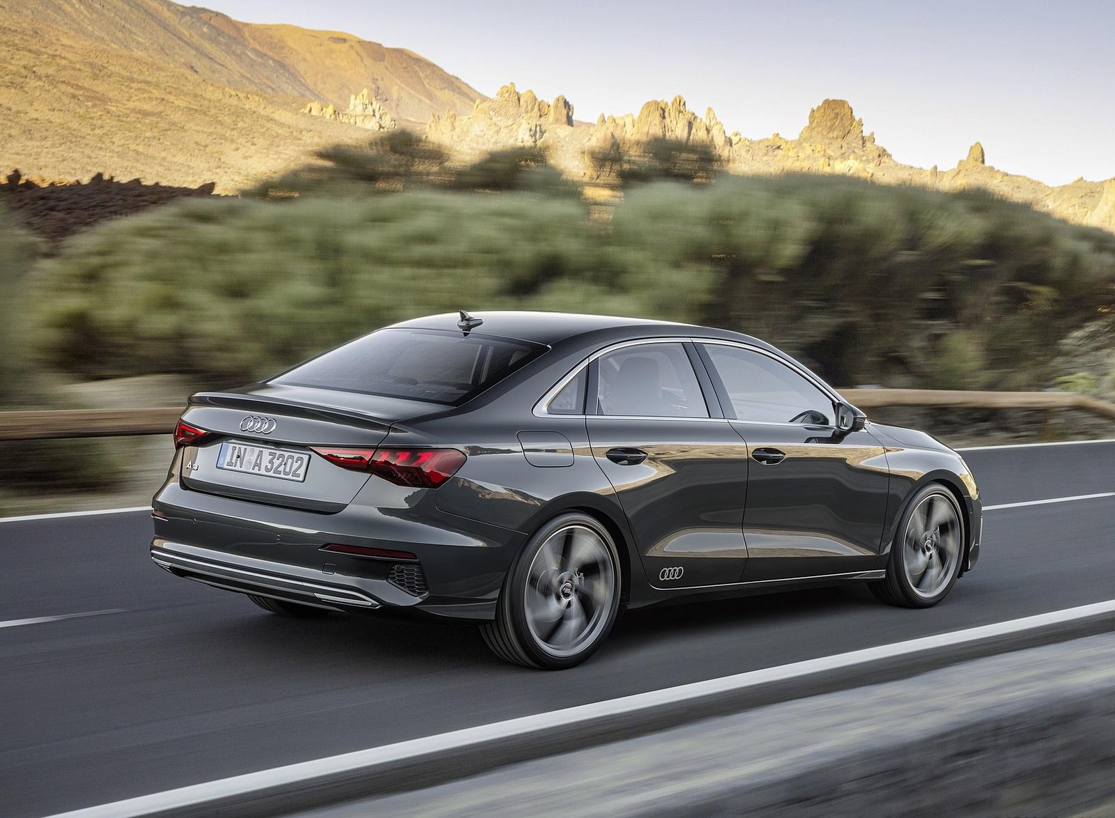 2021 Audi A3 Sedan (Color: Manhattan Gray) Rear Three-Quarter Wallpapers (2)