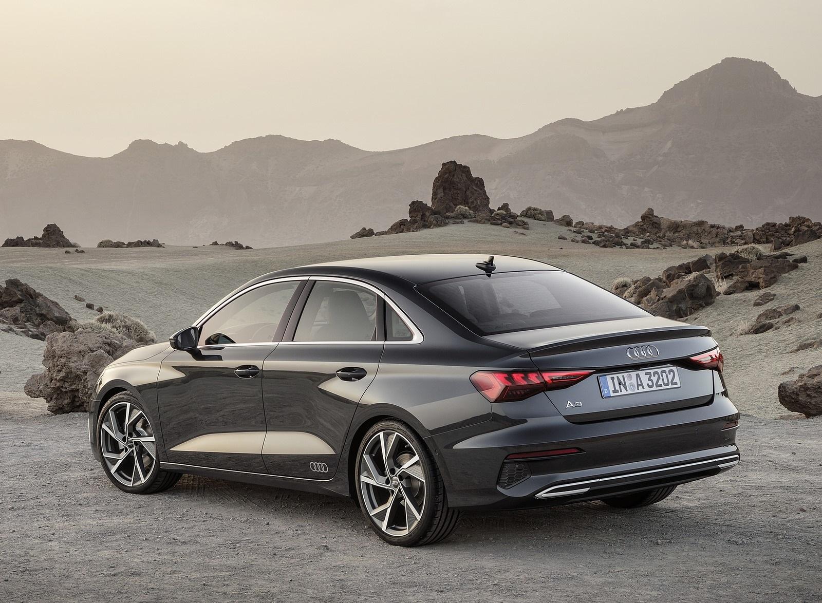 2021 Audi A3 Sedan (Color: Manhattan Gray) Rear Three-Quarter Wallpapers (7)