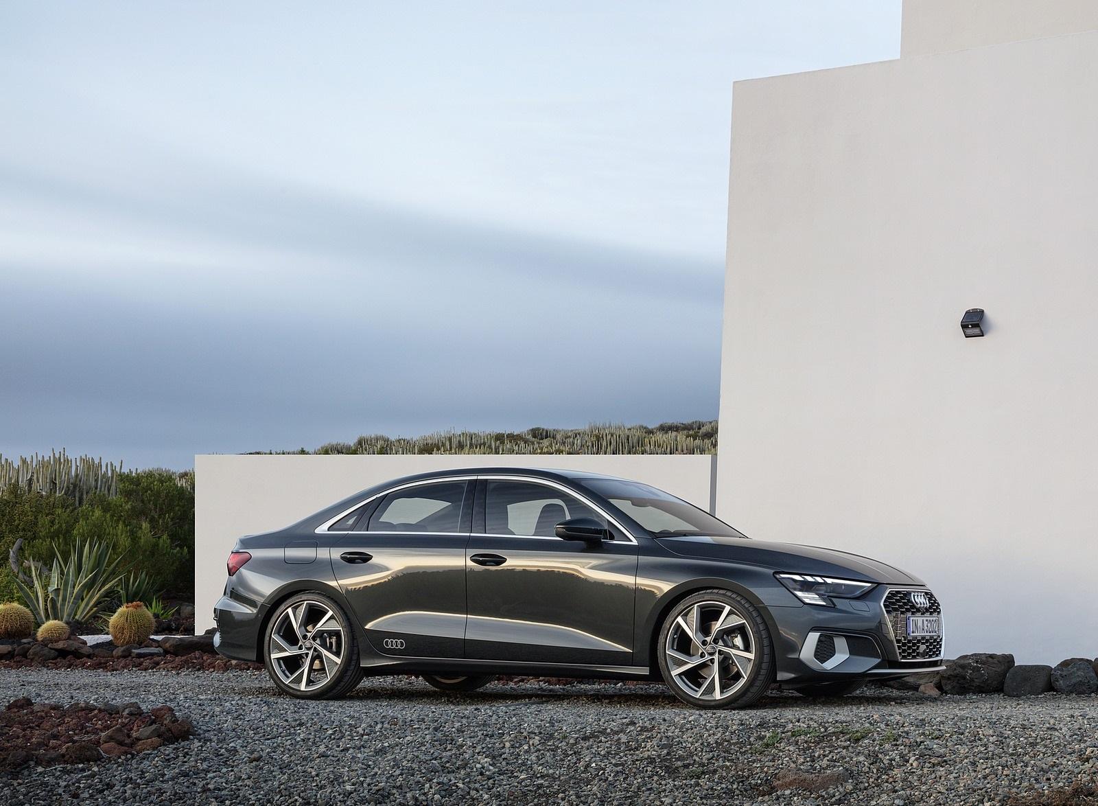 2021 Audi A3 Sedan (Color: Manhattan Gray) Side Wallpapers (9)