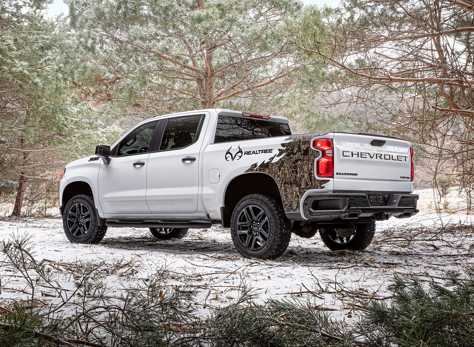 2021 Chevrolet Silverado Realtree Edition Rear Three-Quarter Wallpapers (2)