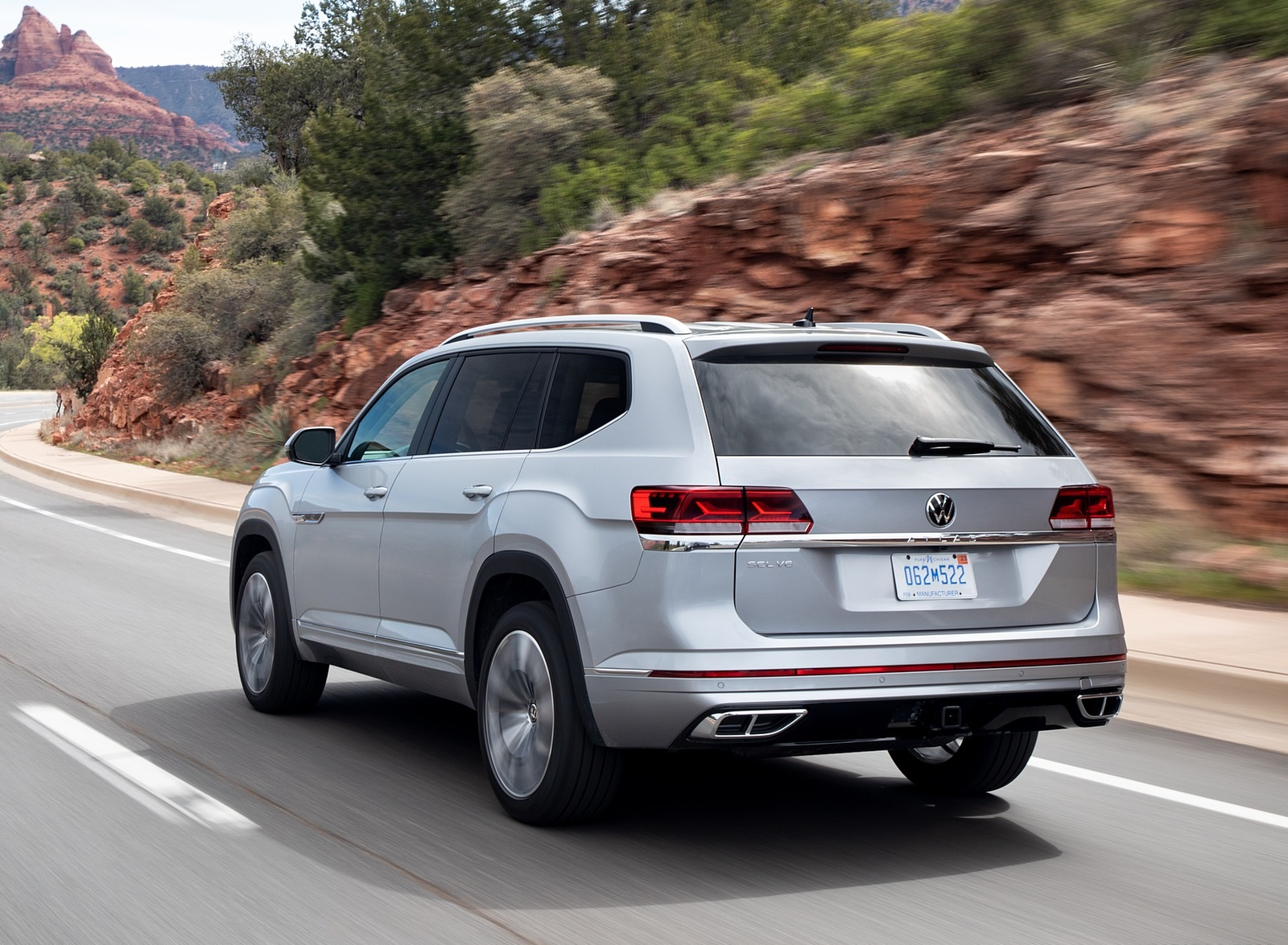 2021 Volkswagen Atlas SEL R-line Rear Three-Quarter Wallpapers (4)