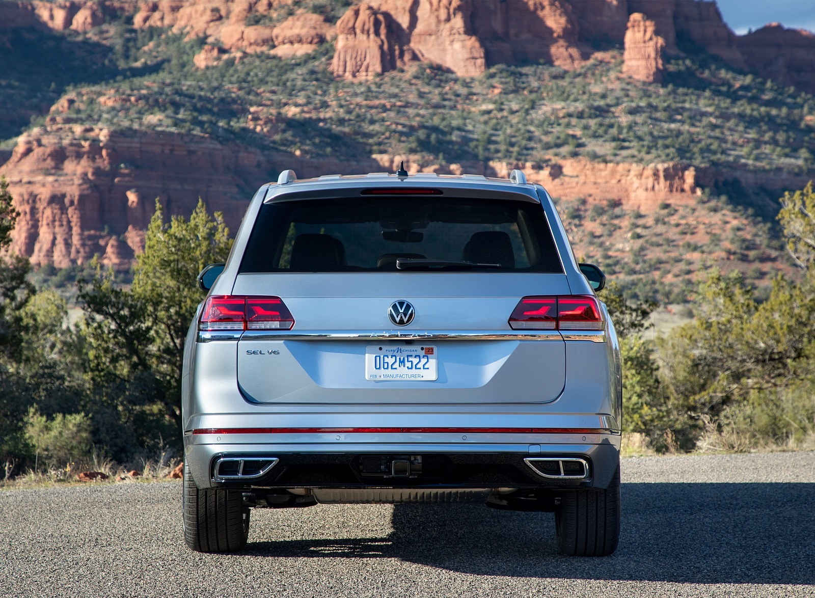 2021 Volkswagen Atlas SEL R-line Rear Wallpapers (10)