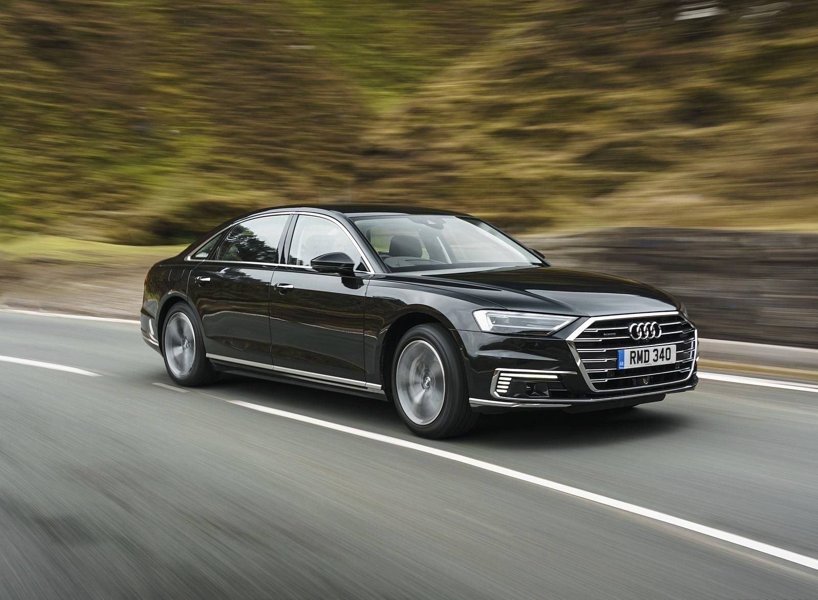 2020 Audi A8 L 60 TFSI e quattro (Plug-In Hybrid UK-Spec) Front Three-Quarter Wallpapers (3)