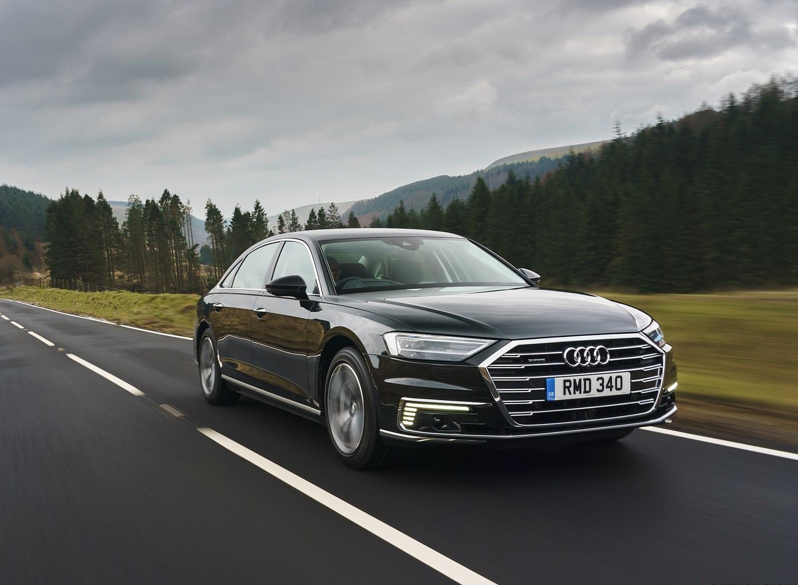 2020 Audi A8 L 60 TFSI e quattro (Plug-In Hybrid UK-Spec) Front Three-Quarter Wallpapers (8)
