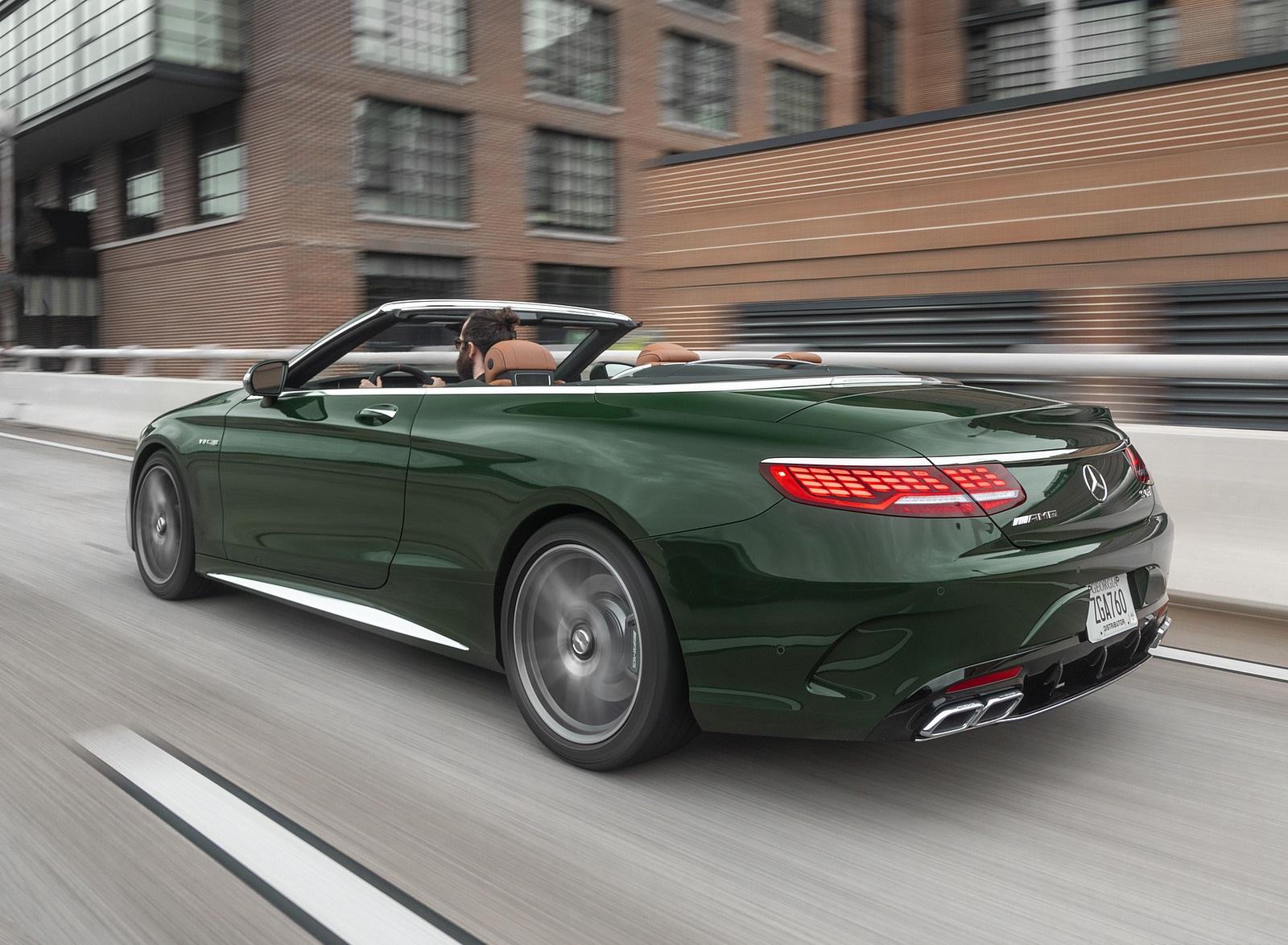 2020 Mercedes-AMG S 63 Cabriolet (US-Spec) Rear Three-Quarter Wallpapers (9)