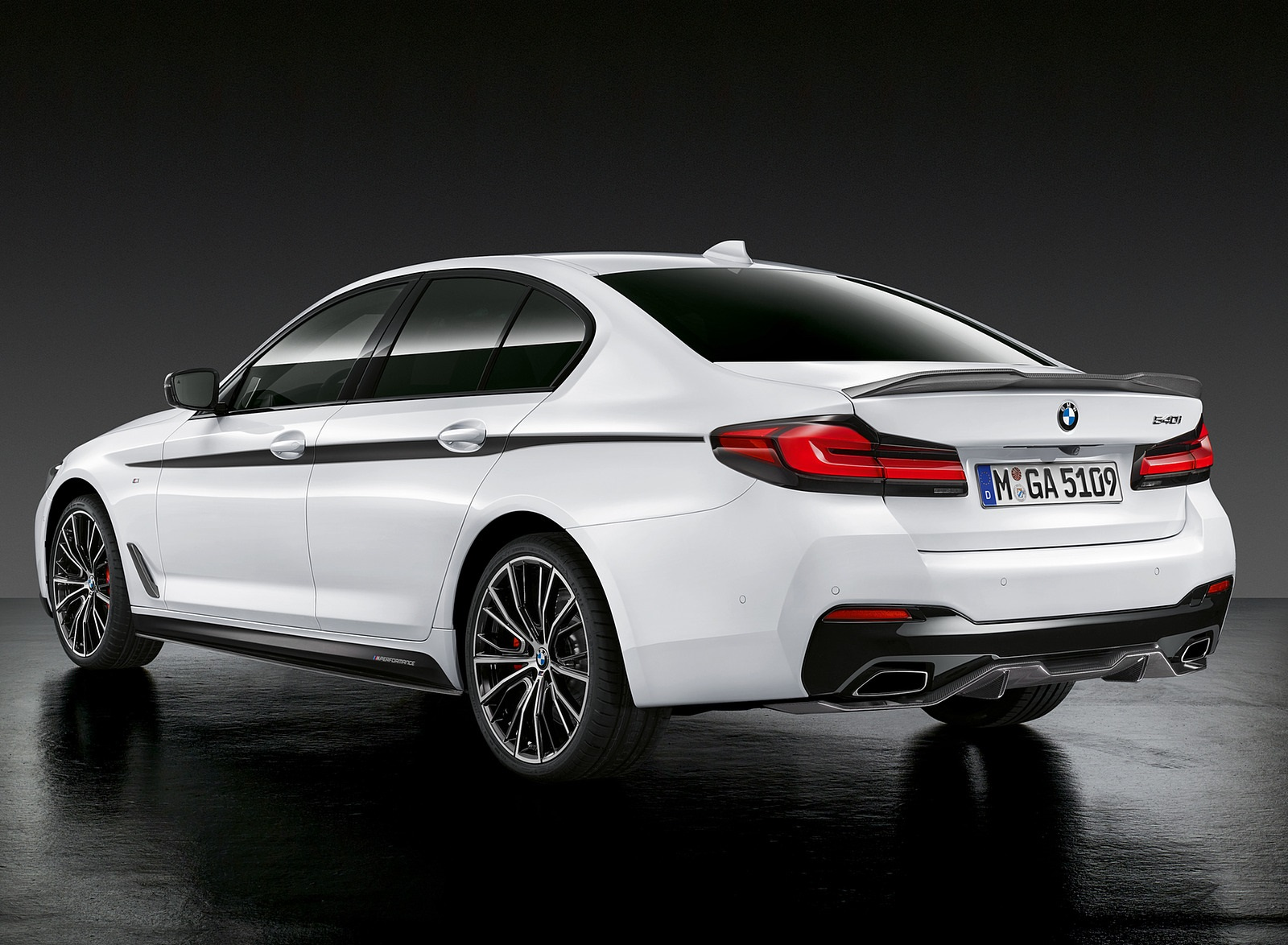 2021 BMW 5 Series M Performance Parts Rear Three-Quarter Wallpapers (4)