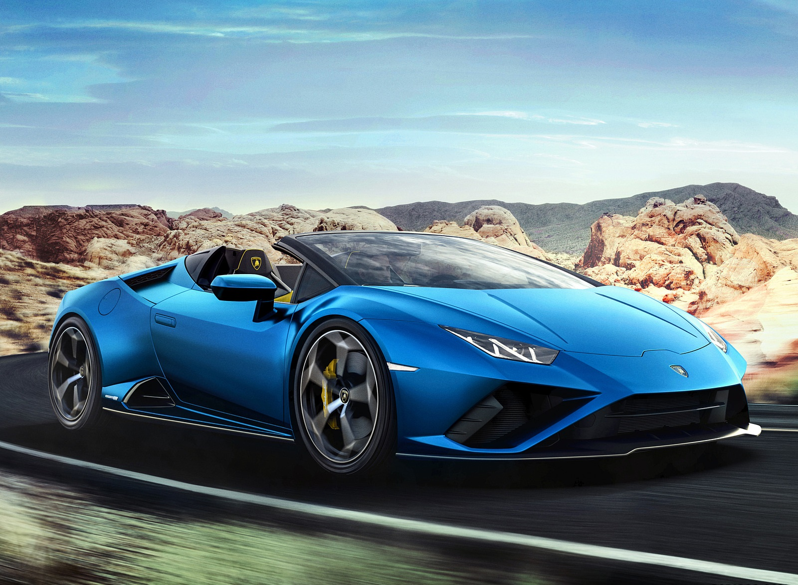 2021 Lamborghini Huracán EVO RWD Spyder Front Three-Quarter Wallpapers (2)
